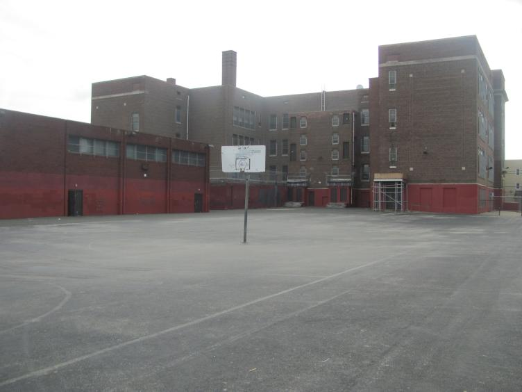 Taggart elementary schoolyard in 2014, before the renovation project