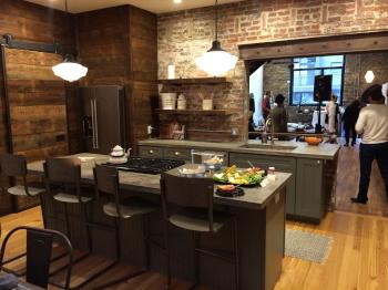 The $680,000 Parrish House townhomes feature granite countertops, stainless steel appliances and reclaimed wood cupboards.