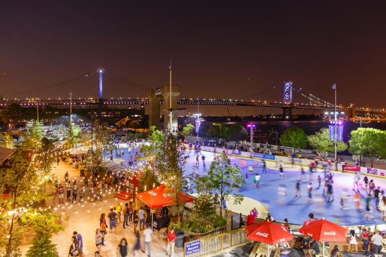 The Blue Cross Riverrink at night. (Matt Stanley/DRWC)