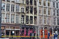 The building at 239 Chestnut Street must be reinforced before investigators can enter safely Credit: Kimberly Paynter/WHYY