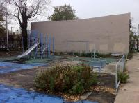 The current playground equipment at 37th and Mt. Vernon streets in Mantua. Photo courtesy of The Trust for Public Land