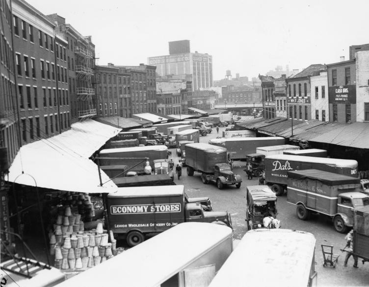 The Dock Street Market in 1951.