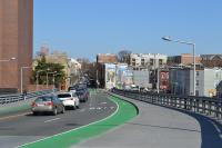 The eastbound South Street Bridge bike lane as it is today