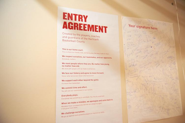 The entry agreement to the new Hartranft courts, and its signatories. | Natalie Piserchio/for WHYY