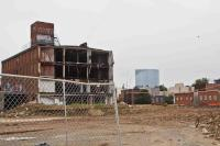 The Frankford Chocolate Factory at 21st and Washington Streets is in the process of demolition.