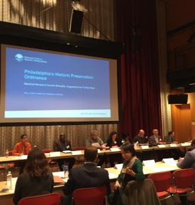 The Historic Preservation Task Force meets in Philadelphia University's Kanbar Center