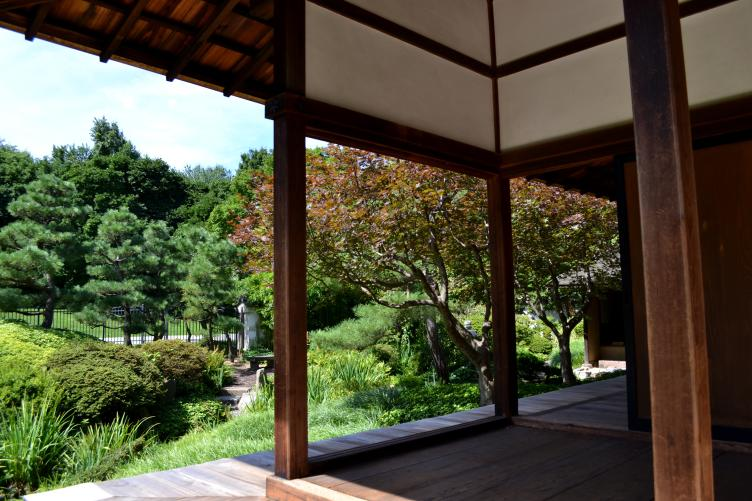 The house looks out onto the authentic, and now newly restored, Japanese garden