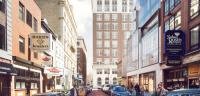 The latest rendering for Toll Bros.' Jewelers Row tower. Credit: Toll Bros.