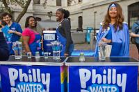 Philly Water Bar will be open at City Hall every Thursday this summer. (Kimberly Paynter/WHYY)