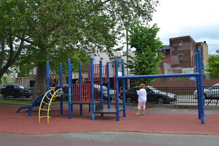 The sprayground adds to Shissler Rec Center's already popular playground