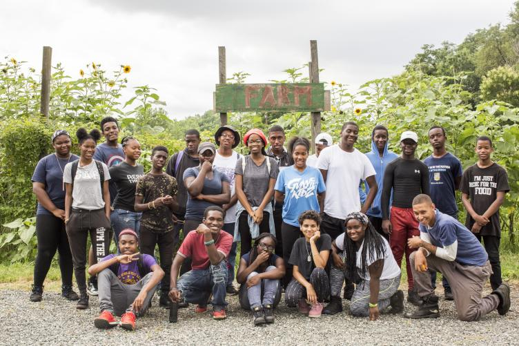 The students of Sankofa Community Garden. Credit: Bartram's Garden.
