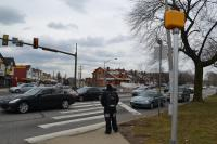 The wide, high-traffic Boulevard poses a challenge to pedestrians