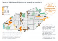 Vacancy of Major Commercial Corridors and Centers, from the preliminary draft of North District Plan
