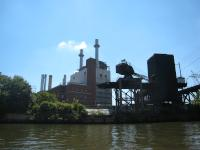 Veolia plant at Christian Street from the Schuylkill River
