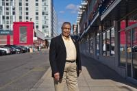 Wendell Whitlock is the Board Chairman of Sullivan Progress Plaza. (Kimberly Paynter/WHYY)