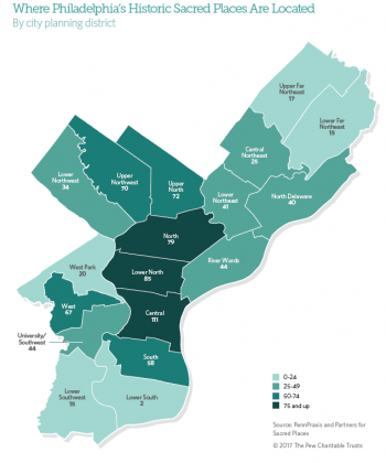 Where Philadelphia's Historic Sacred Places Are Located